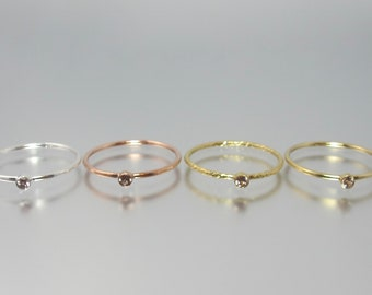Imperial Malaya color change garnet stacking ring 14k yellow sparkle rose gold filled or sterling silver dainty minimalist pyrospessartite