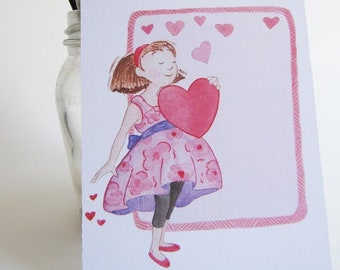 Beautiful Valentines Card Printable for Girls