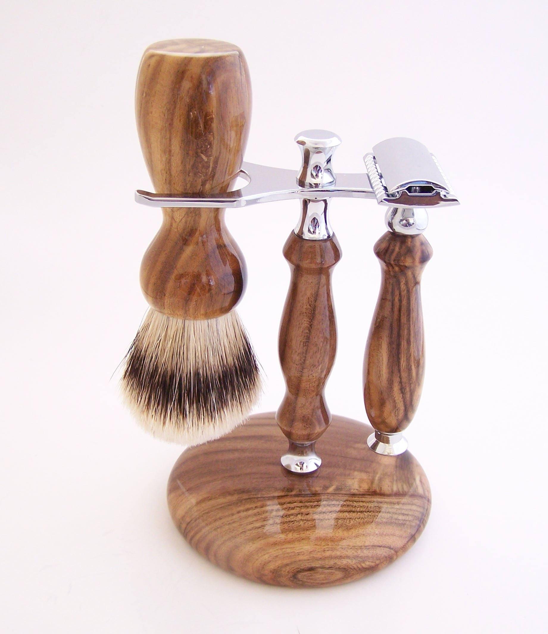 Pistachio Wood 22mm Super Silvertip Shaving Brush and ...