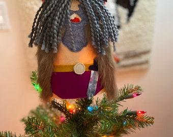 Handmade Barbarian Tree Topper, Christmas Tree Décor, Unusual Tree Topper
