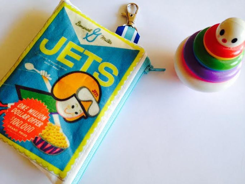 Jets Cereal Cosmetic Bagwallet Retro Cereal Box Wallet Etsy