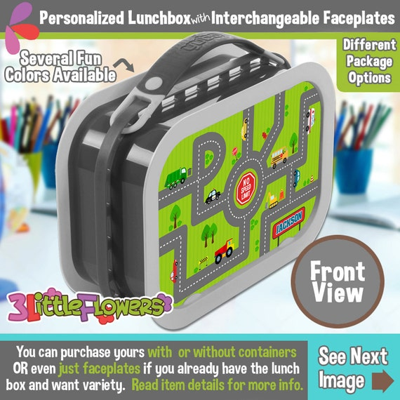 Traffic Jam Lunchbox - Personalized Lunchbox Interchangeable