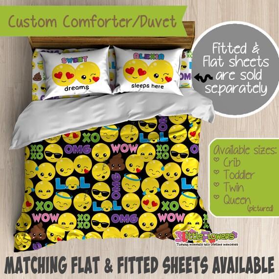 Emoji Custom Comforter Duvet Teens Comforter Teens Duvet