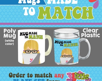 Mug Made to Match - Personalized Children Mug - Children Poly Mug - Children Clear Plastic Mug - Ceramic Mug - Custom Personalized Kids Mug