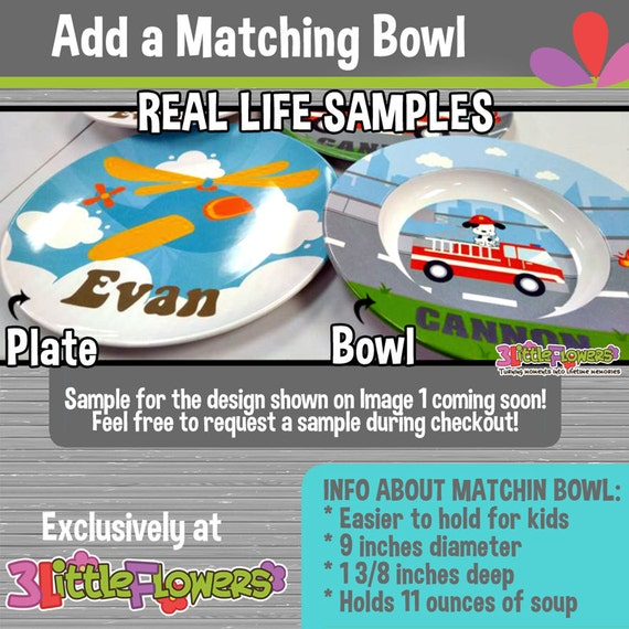 Personalized Plastic Children Plate Cereal Bowl CHOOSE HAIR SKIN color Future Prince Plate and Bowl Set Career Plate and Bowl Set