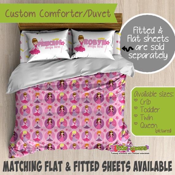 Princess Custom Comforter Duvet Kids Comforter Kids Duvet Customized Children Bedding Kids Pillowcase Princess Bedroom Decor By 3 Little Flowers Catch My Party