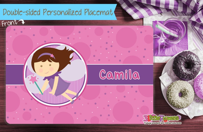 Personalized Fairy Placemat  Personalized placemat for kids  image 0