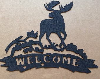 Welcome Sign Moose     (S)