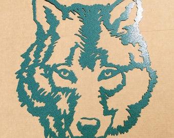 Wolf Metal Wall Art (E8)