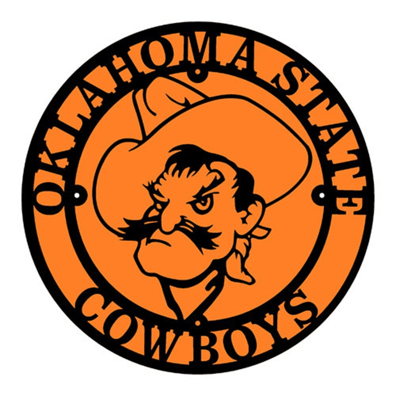 uk availability 0b492 dd8d1 Oklahoma State Cowboys Pistol Pete in a Circle (C47)