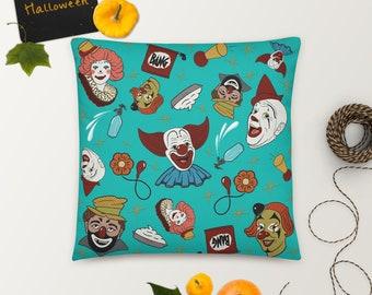 Vintage Clowns Throw Pillow