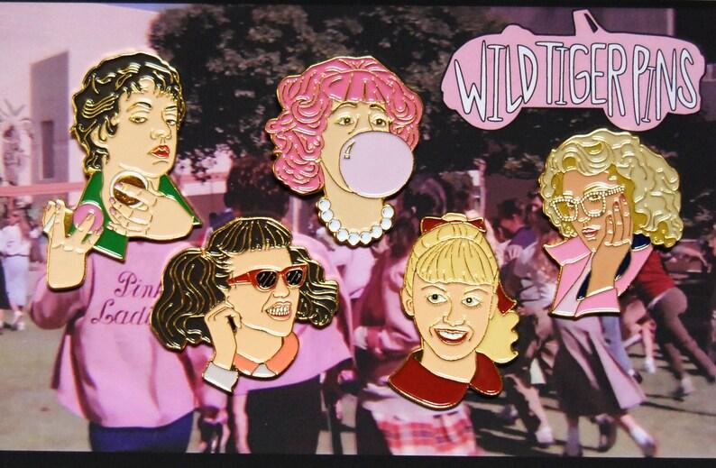 329d5f1a90a Pink Ladies Enamel Pin Set | Etsy