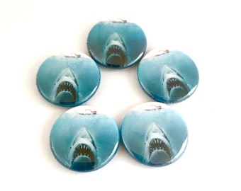 Jaws 1inch pinback button badge pin  or Magnet