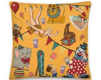 Vintage Circus Premium Pillow