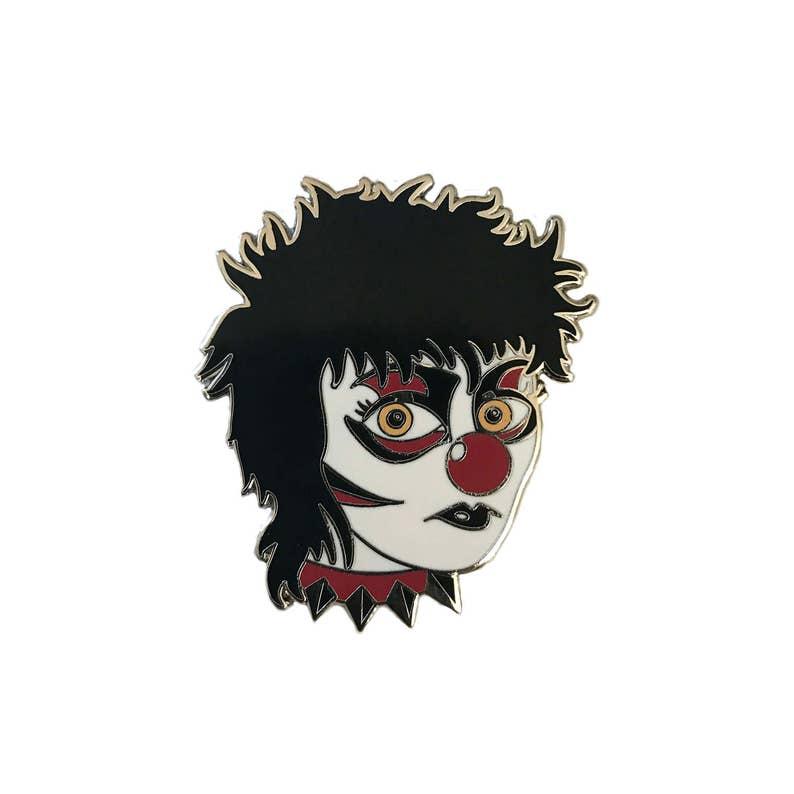 66db557b851 Siouxsie Clown Hard Enamel Lapel Pin by Matthew Sylar x Wild | Etsy