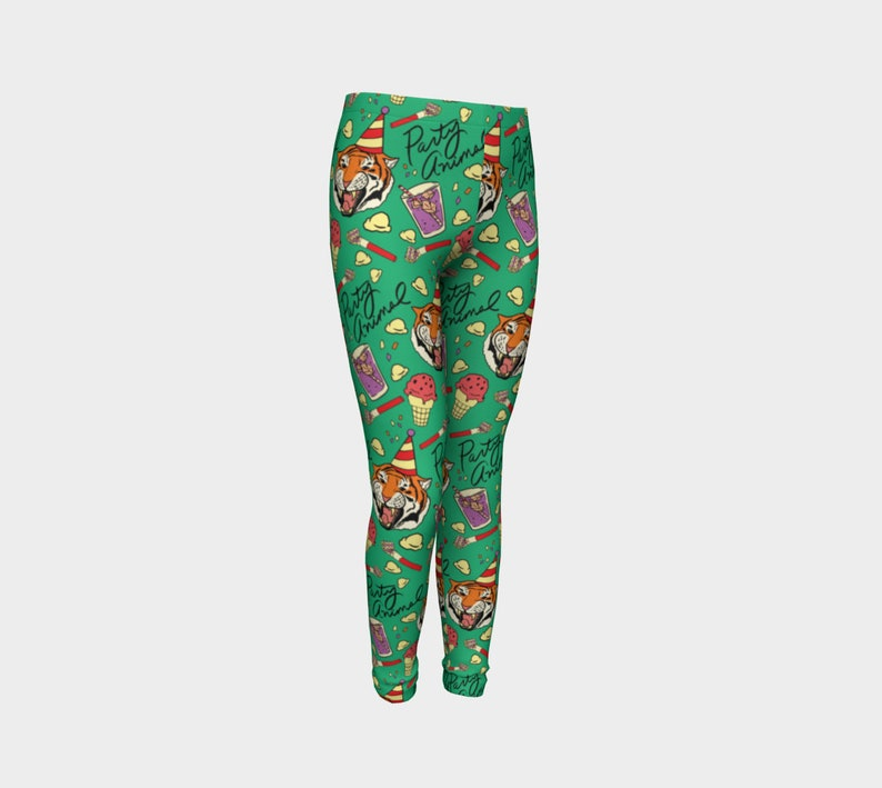 Party Tiger Mint Youth Leggings