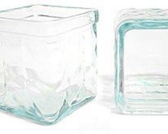 Votive Holder - Square Glass