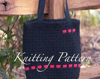 e7a3827bbc Falmer Book Bag - Knitting pattern - Mens bag - Shoulder bag with canvas  liner - Instant download