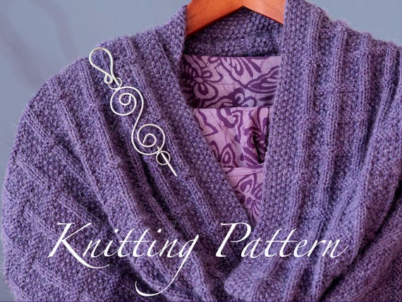 Scottswood Stole Knitting Pattern Ladies Shawlwrap In Etsy