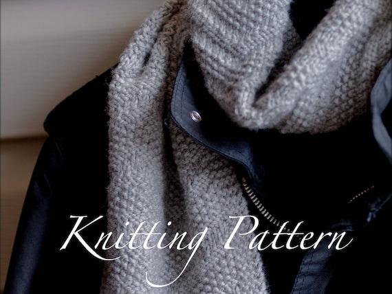 Beckenham Scarf Knitting Pattern Mens Scarf Reversible Etsy