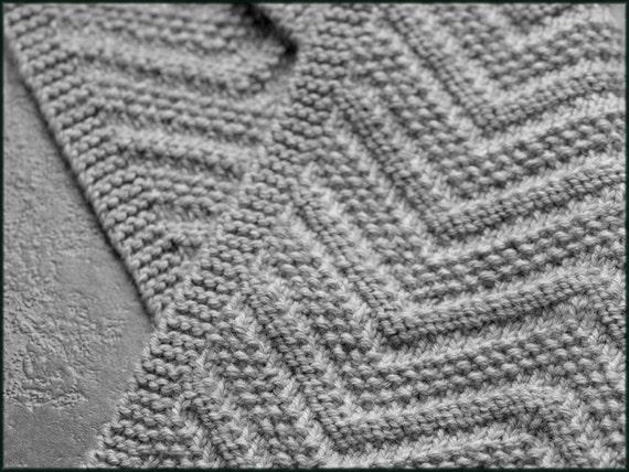 Beckenham Scarf Knitting Pattern Mens Scarf Reversible Design