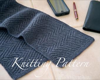 Lamberhurst Scarf - Knitting pattern - Mens scarf - Reversible - Instant download
