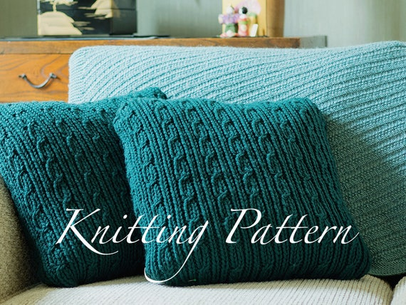 Verwood Cushions Knitting Pattern Chunky Knitted Pillow Etsy