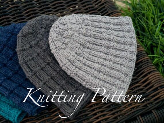 Madingley Beanie Hat Knitting Pattern Ladies Beanie Hat Etsy