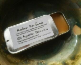 Amber Perfume - Solid Perfume - Botanical Perfume