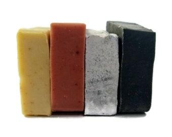 4 Handmade Soaps by Aquarian Bath  Natural Soap, Vegan Soaps, Palm Oil Free Soap, Palm Free soap