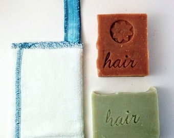 Zero waste Soap Savers and 2 Shampoo Bars of your Choice