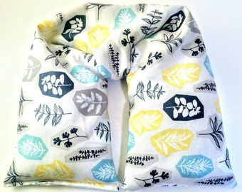 Organic cotton Microwavable Neck Pillow - scented or unscented - hot or cold pack - heating pad - flaxseed pillow