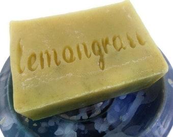 Lemongrass soap - Cold Process Soap, Handmade Vegan Soap, Vegan Soap, Palm oil free soap, Plastic free shipping