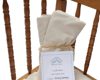 Organic Cotton Cradle Sheet in Ivory Jersey