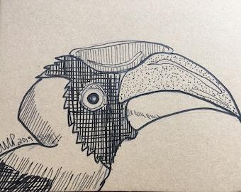 Rhinoceros Hornbill moleskine blank journal