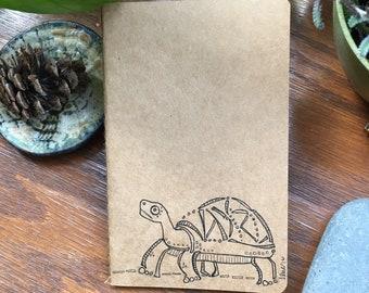Turtle moleskine lined journal