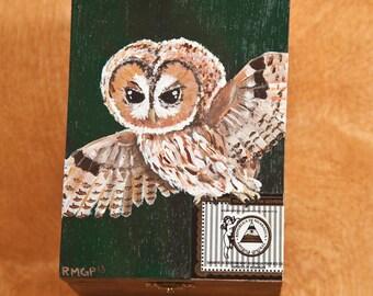 Tawny Owl Wooden Box