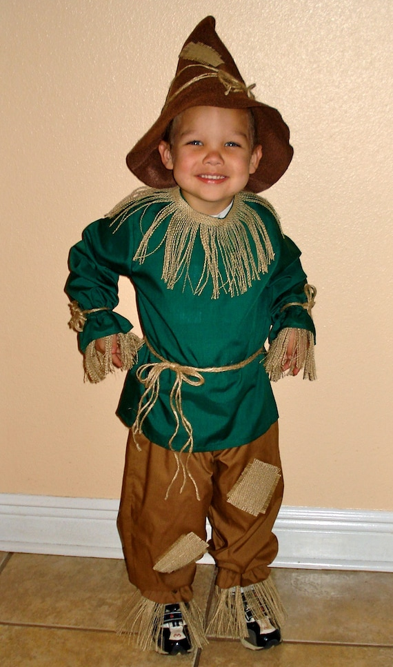 Toddler//Child Scarecrow Costume Wizard of Oz Green Shirt