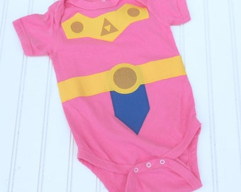 e75a3fa99 READY TO SHIP Great Present Great Costume / Baby Shower Gift bodysuit  Inspired by Legend of Zelda, Princess Zelda sewn cotton app