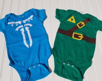 Ocarina Bodysuit inspired by Zelda Baby Clothing customize colors My first instrument