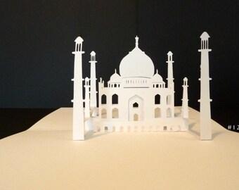 Taj Mahal Printable Pattern Pop Up Card Make Your Own 180