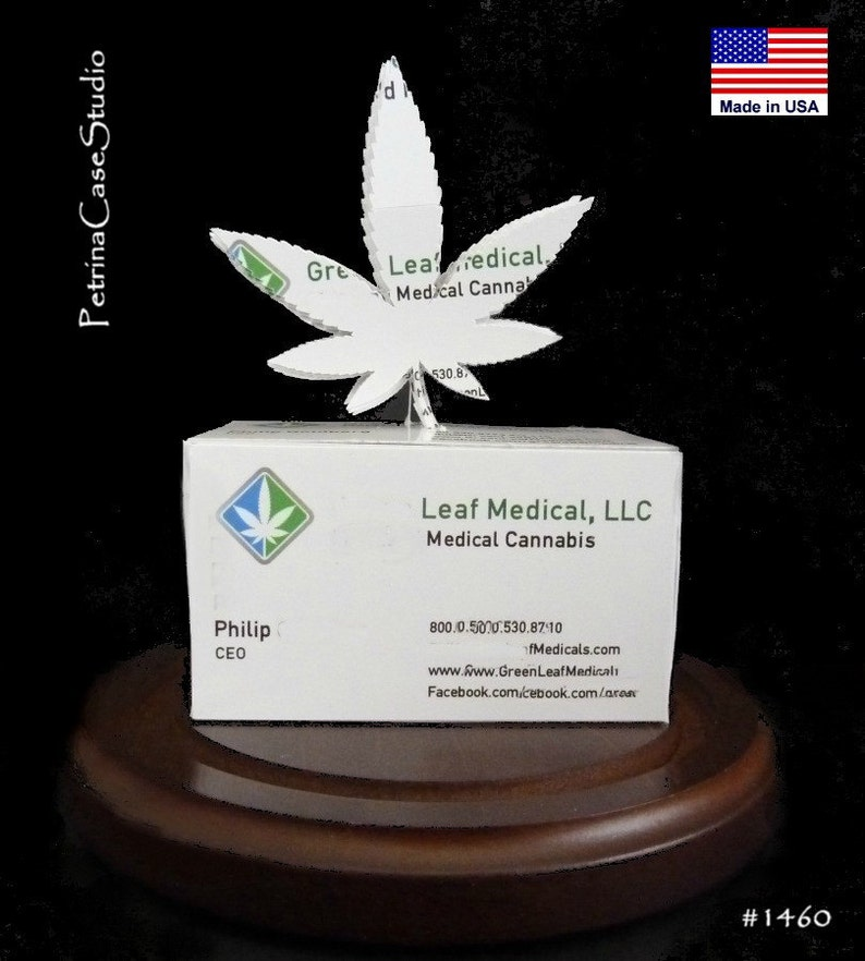 Cannabis Feuille Carte De Visite Sculpture Dessin 1470
