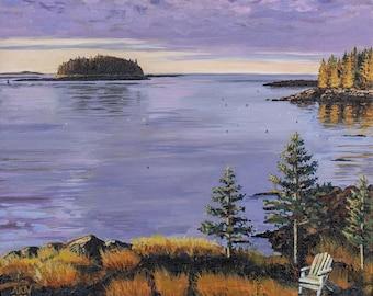 Giclee Fine Art Print — Downeast Dawn — South Addison, Maine — Maine Art — Archival Print - Maine Coast - Downeast Maine- Sunrise Tidal