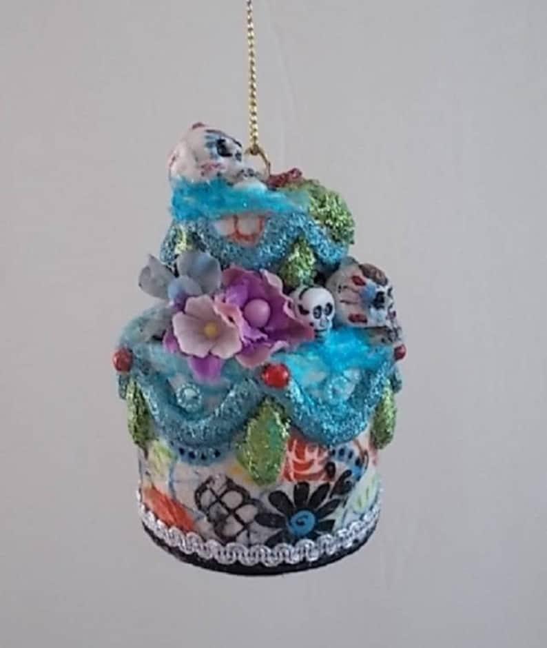 Day of Dead Egg Shell Cake Ornament