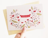 Floral Greeting Cards (your choice)