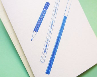 Blue Pencils Card