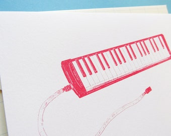 Red Melodica Card