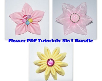Instant download pdf fabric ribbon flower tutorial bundle etsy instant download pdf fabric ribbon flower tutorial bundle of 3 letter size paper format mightylinksfo