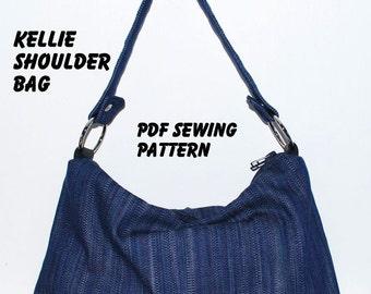 Instant Download PDF Pattern - KELLIE Shoulder Bag PDF Sewing Pattern - A4-size Paper Format