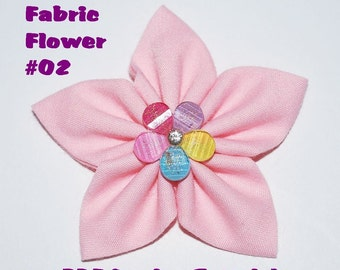 Instant Download - PDF Tutorial - Fabric Flower 02 Sewing Pattern - A4-size Paper Format
